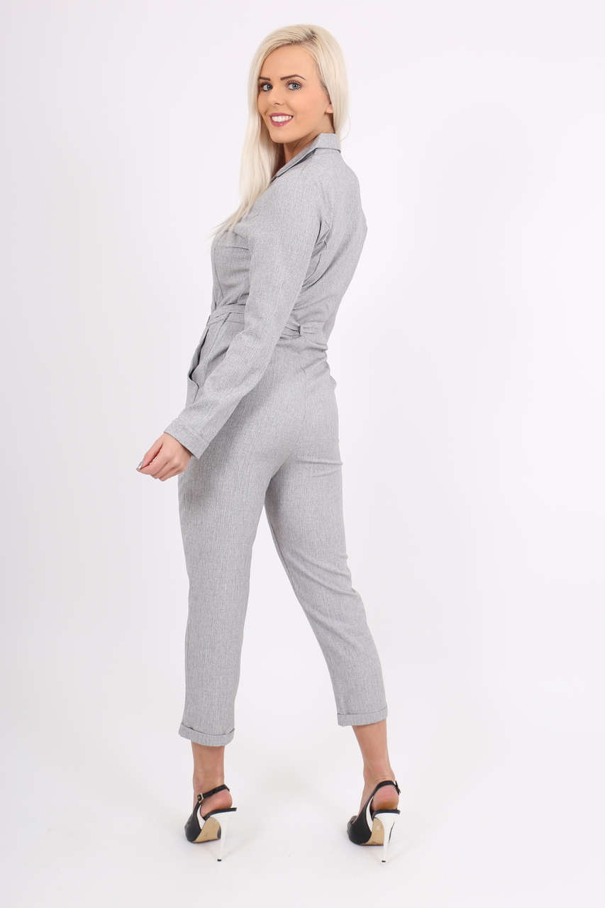 Grey Blazer Jumpsuit