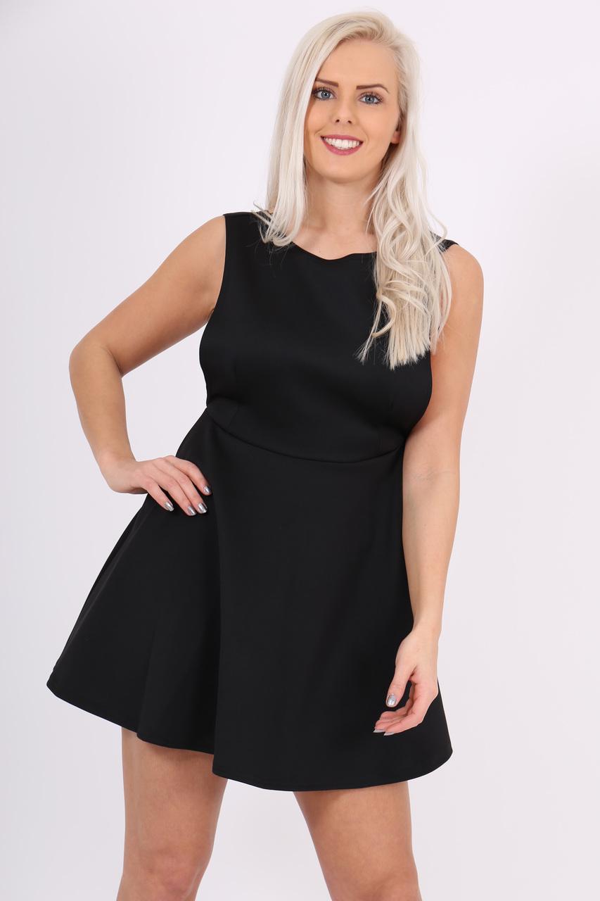 Brie Black  Skater Dress