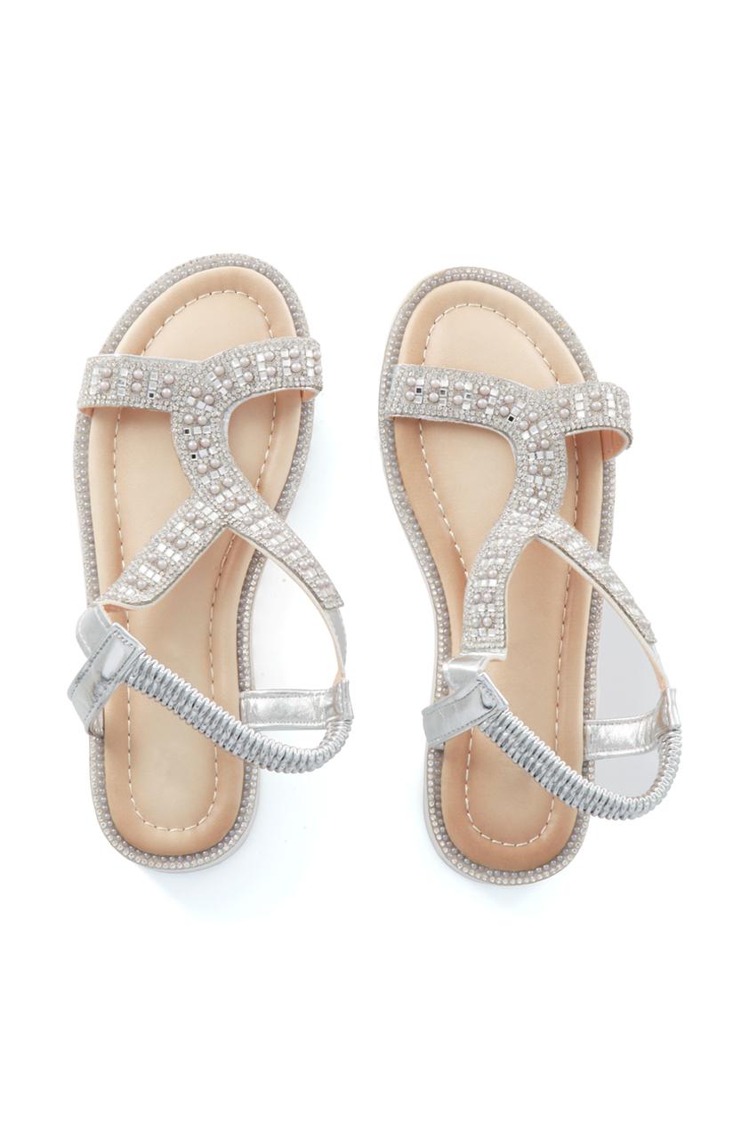 Silver Lisa Diamante Sandals