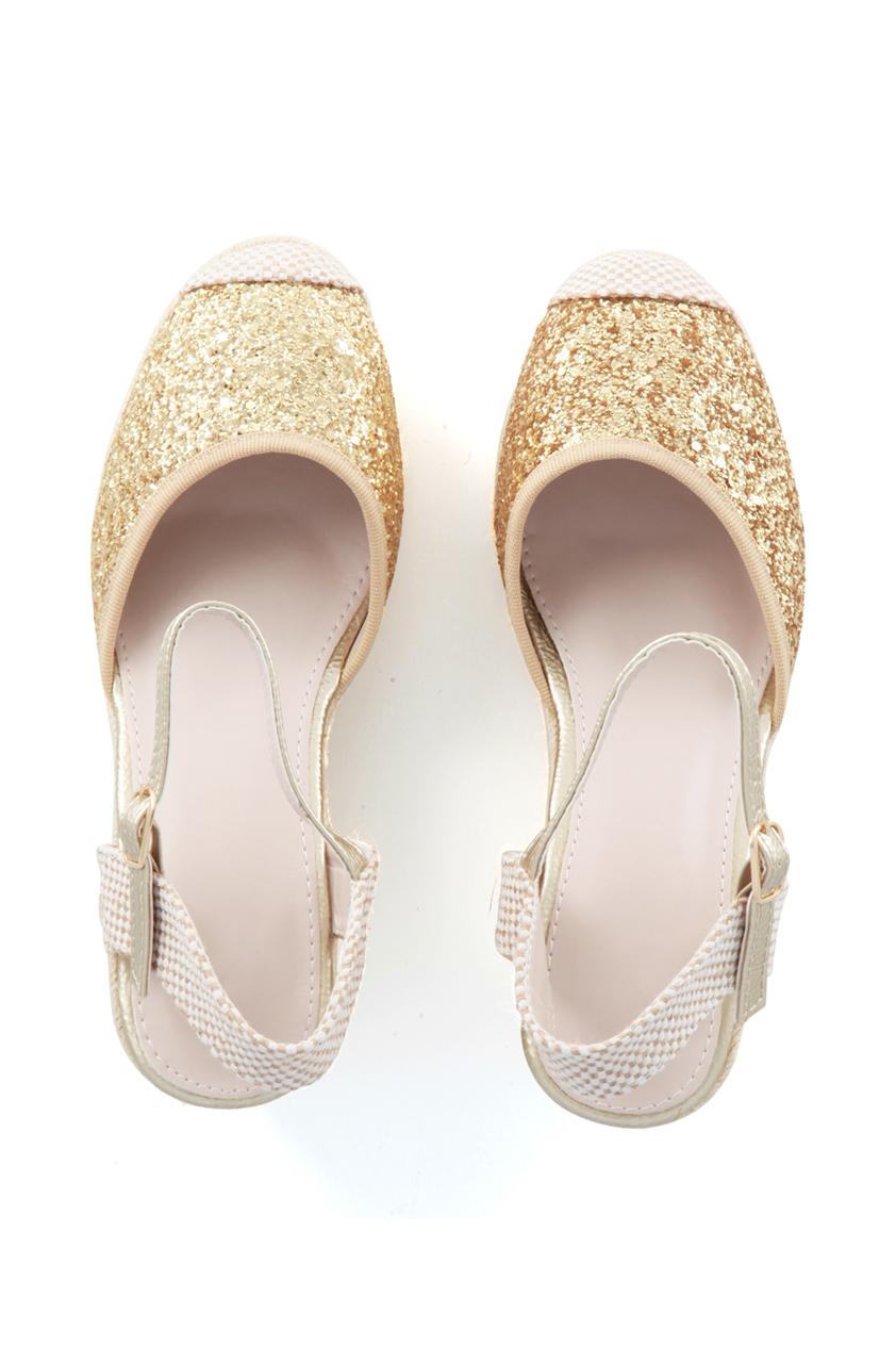 Jessie Gold Shimmer Wedges