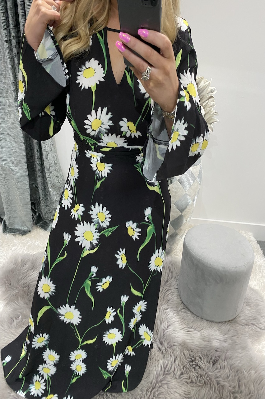 Black Daisy Maxi Dress
