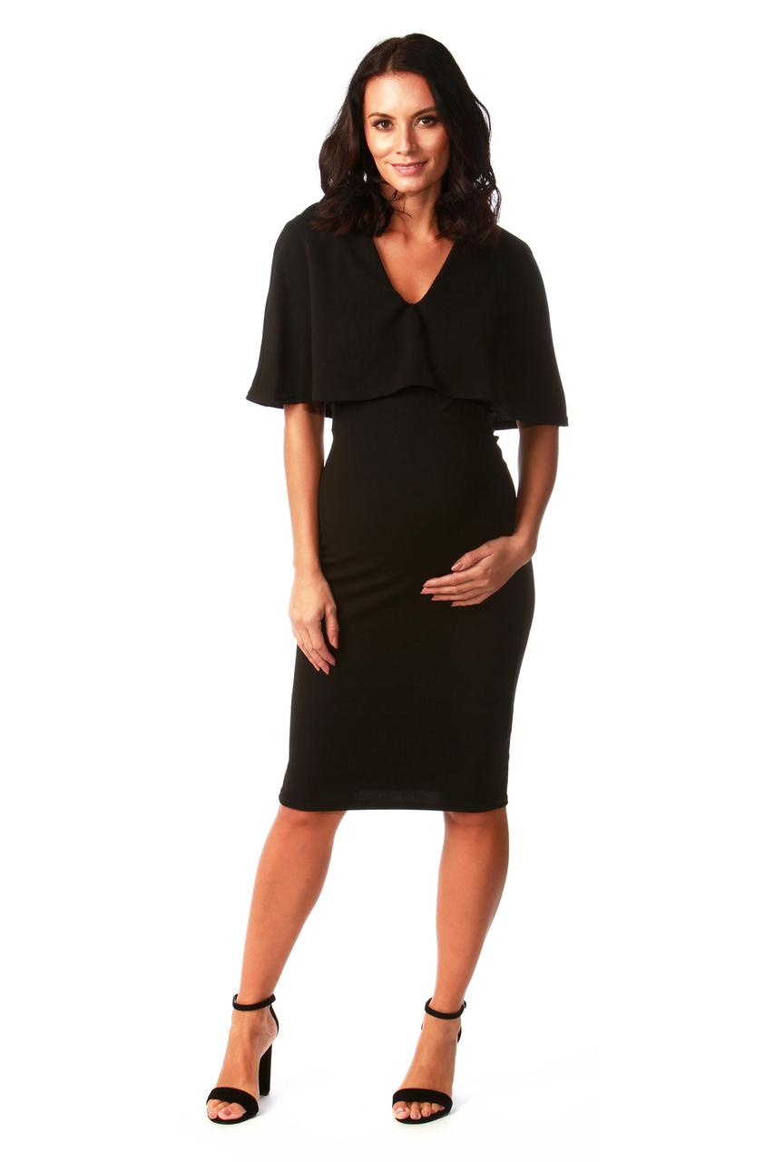 Maternity Black Fiona Bodycon