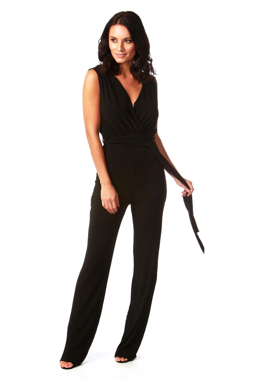 Anya Black Pleated Jumpsuit