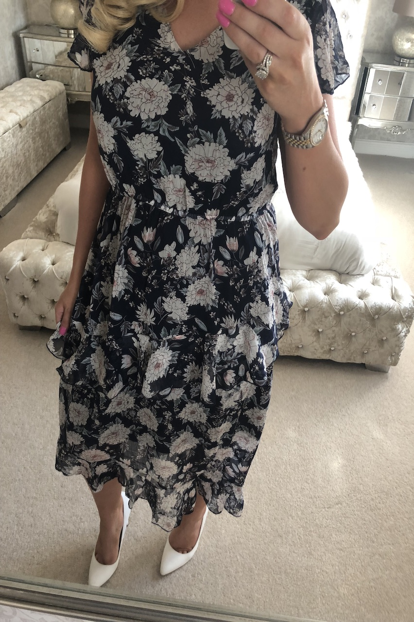 Navy Tegan Floral Maxi Dress
