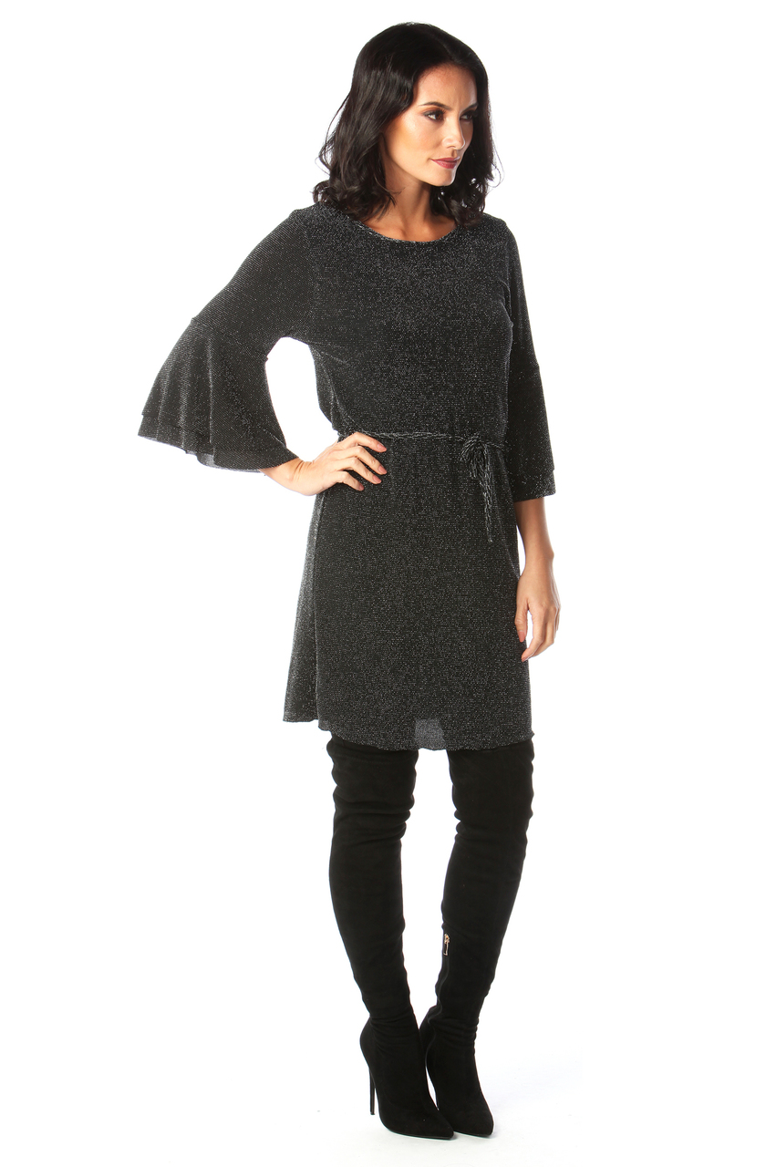 Black Sparkle Tunic Dress