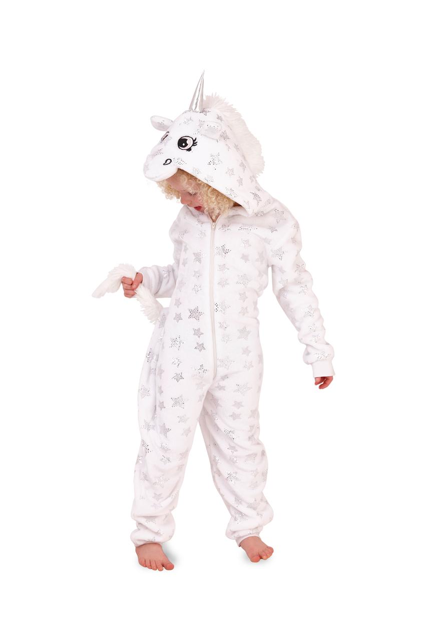 Deluxe Children's White Star Unicorn Onesie
