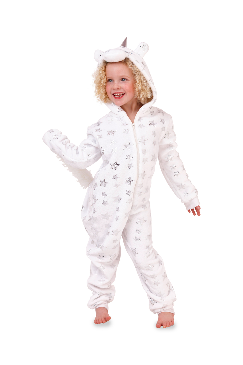 Deluxe Children's White Star Unicorn Onesie