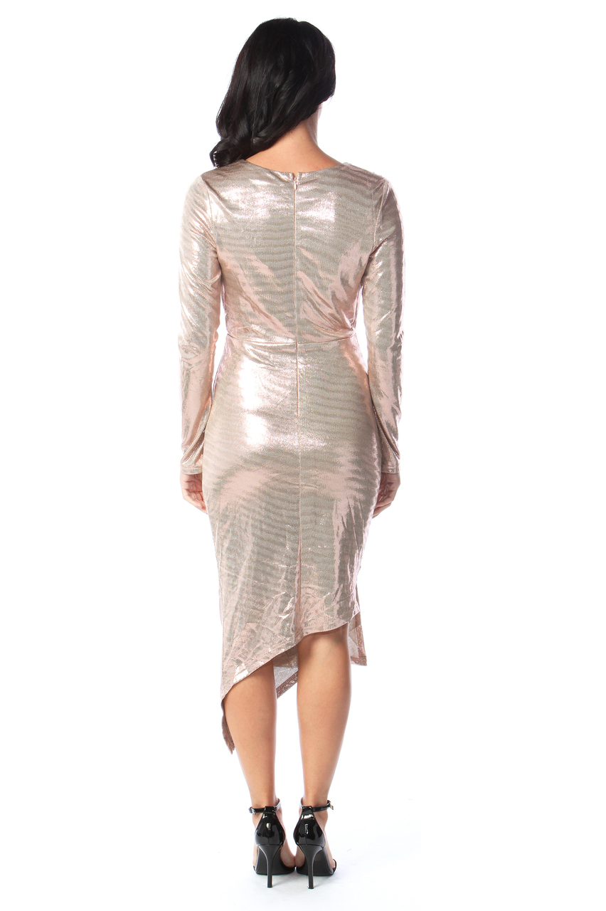 Gold Shimmer Sorento Bodycon Dress