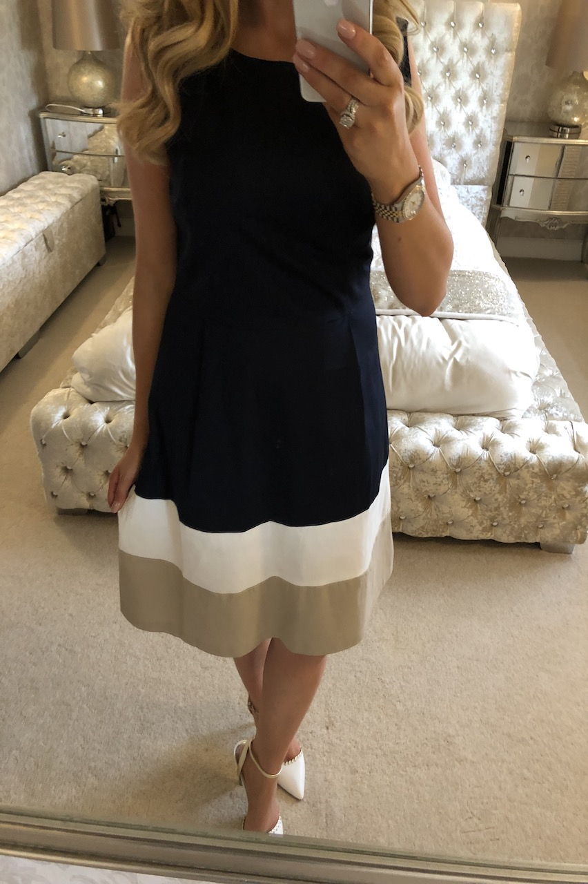 Ramona Navy Stripe Skater Dress