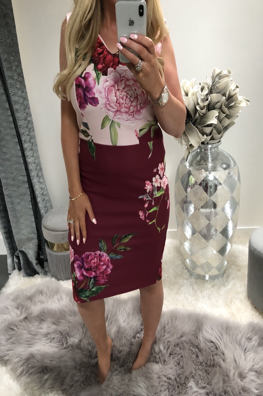 Katie Piper Rainie Floral Bodycon Dress