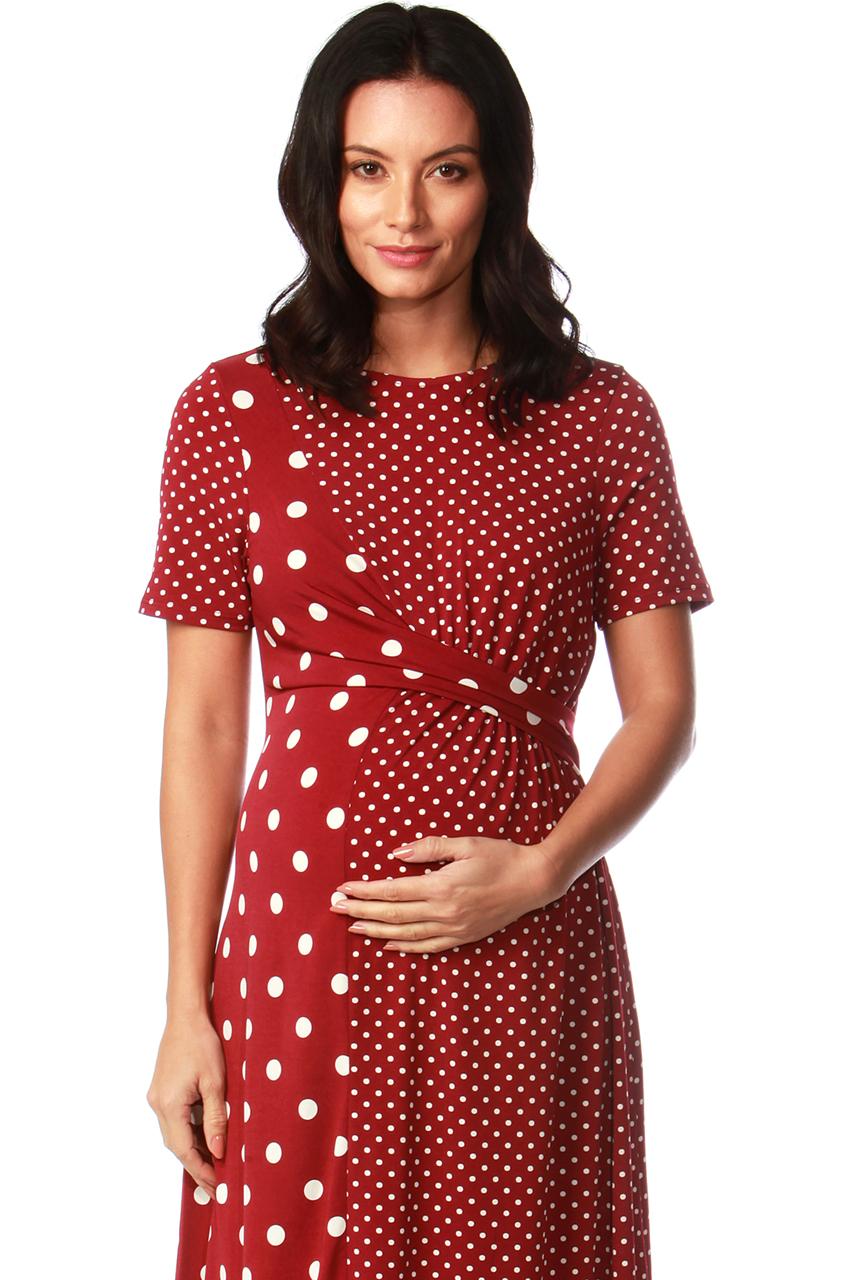 Maternity Scarlet Twist Front Midi Dress
