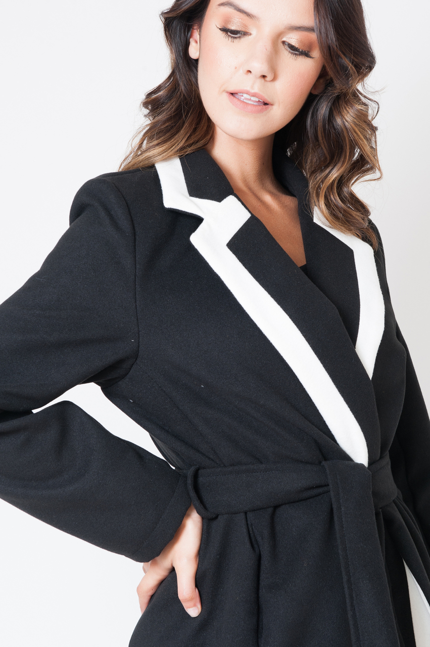 Black and White Trench Coat