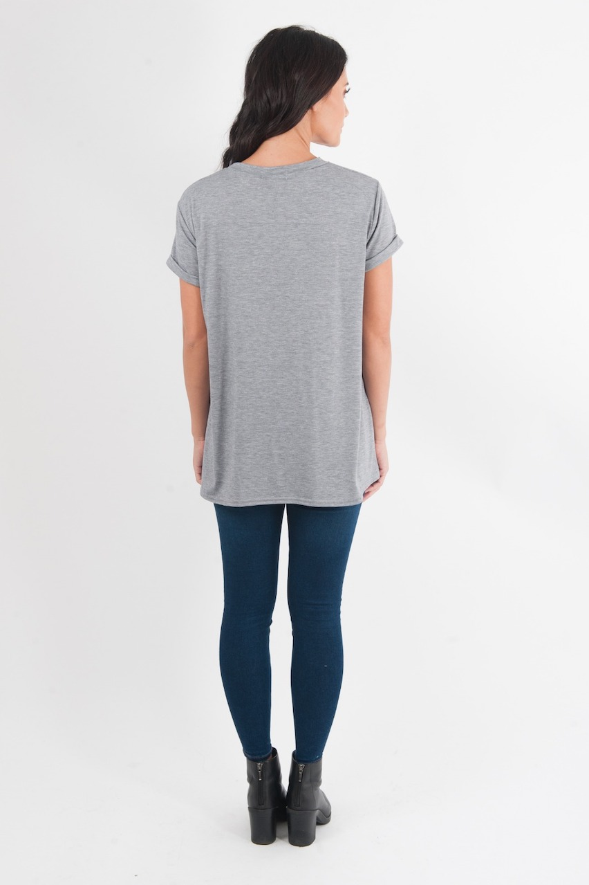 Maternity Grey 'Mistle Toe' Top