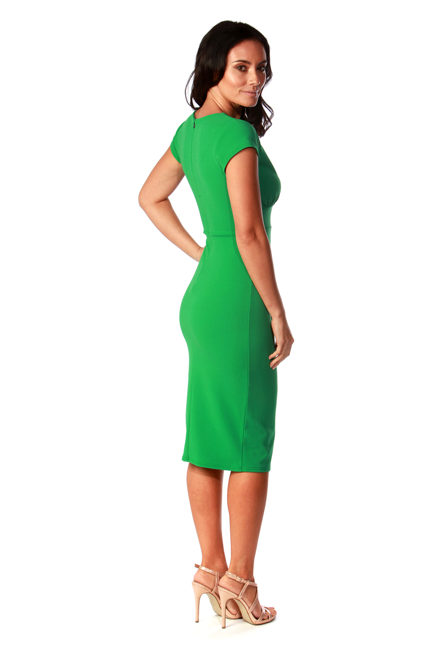 Olinda Green Frill Bodycon Dress