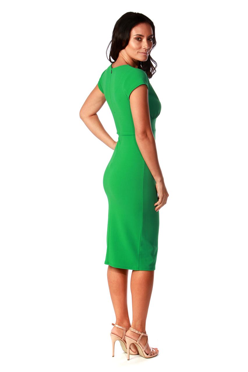 Olinda Green Frill Bodycon Dress