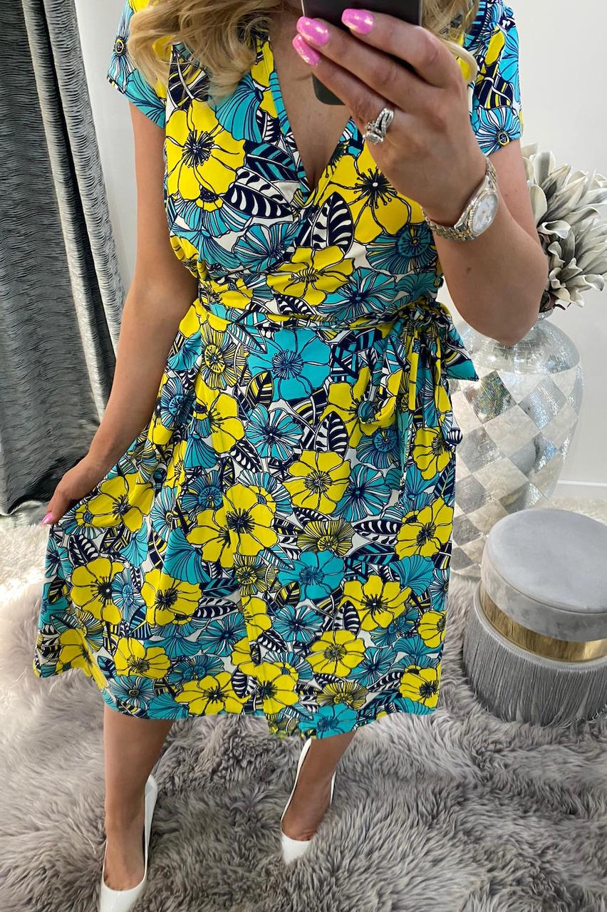 Verano Floral Skater Dress