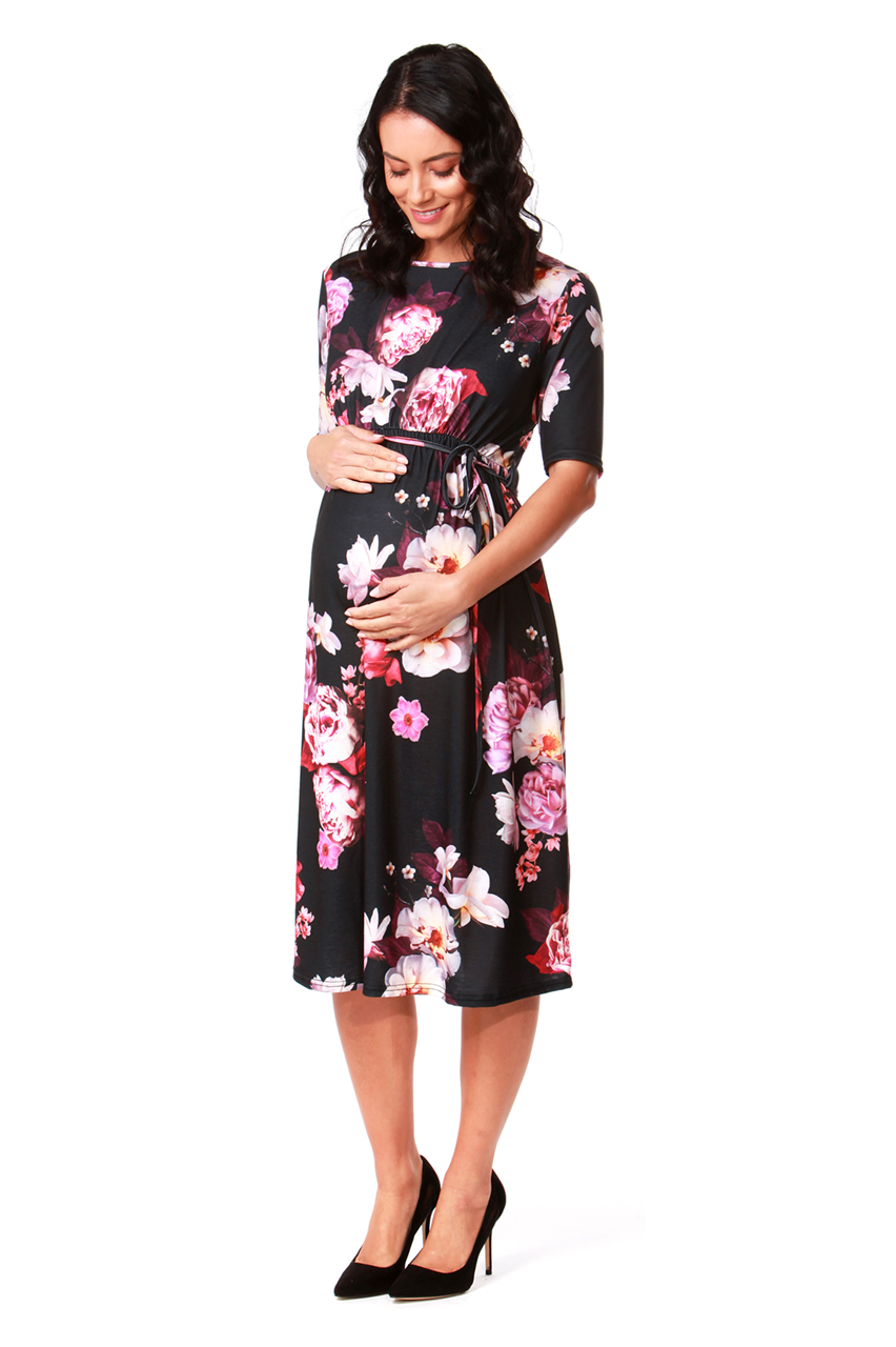Maternity Dhera Belted Midi Dress