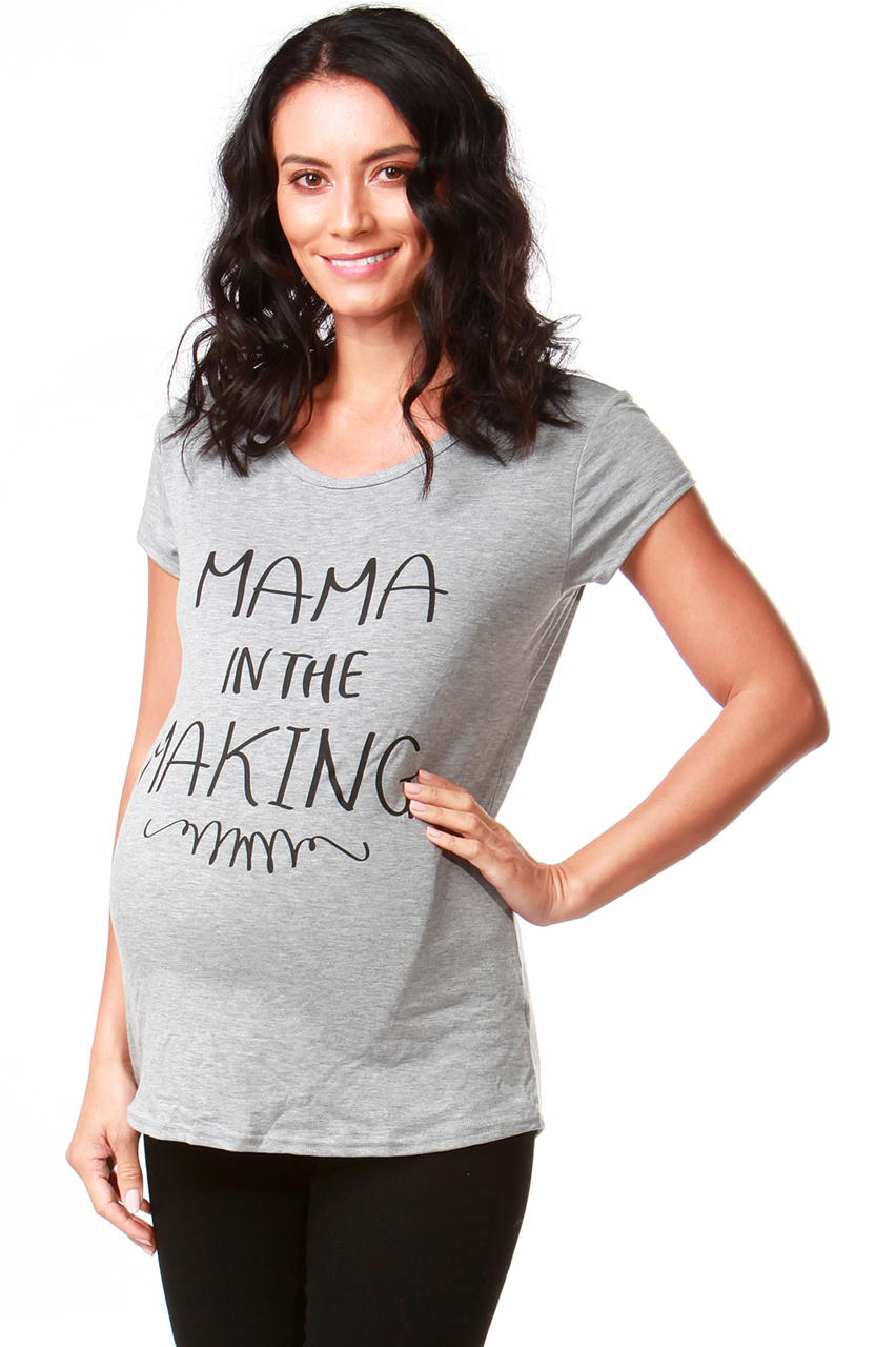 Maternity Grey 'Mama in the making' T-shirt
