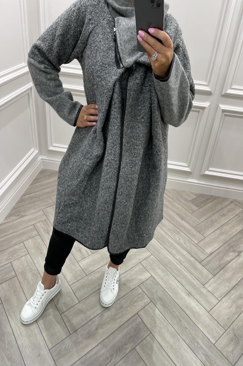 Grey Marmaris Oversized Coatigan