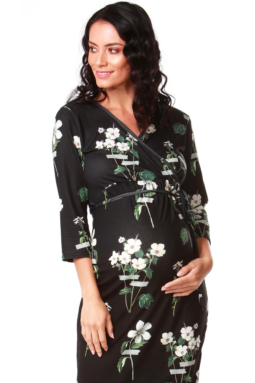 Maternity Maleha Floral Midi Dress