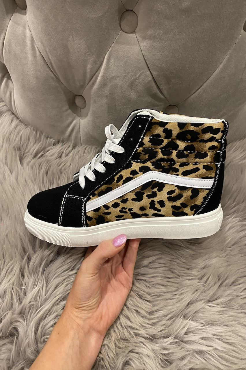 Legacy High Top Leopard Trainers