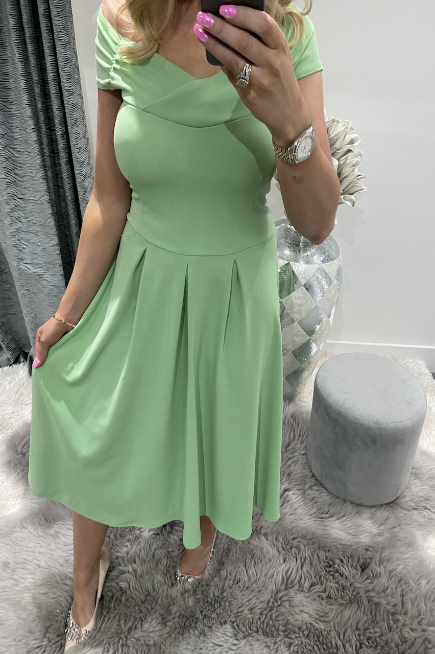 Naraya Light Green  Skater Dress