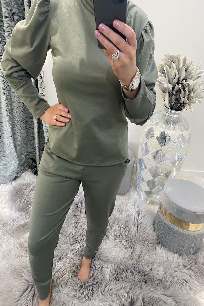 Khaki Marlo  Loungesuit