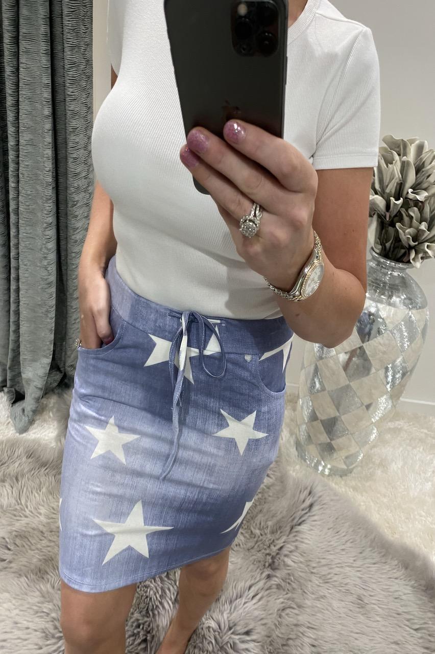 Light Star  Drawstring Skirt