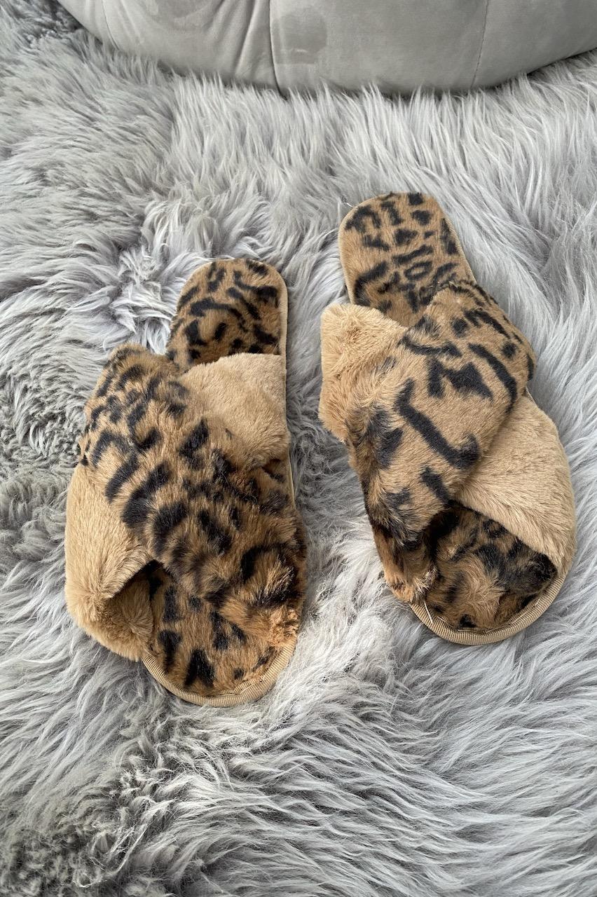Luxury Leopard Fluffy Slippers