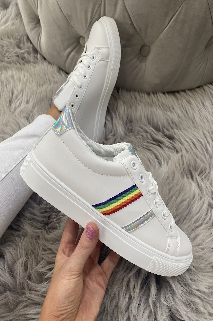 Pierra Silver  Rainbow Trainers