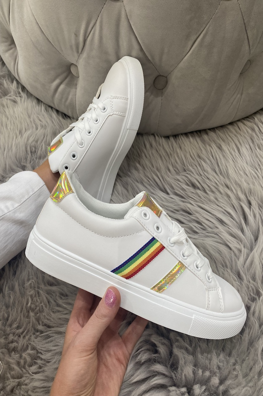Pierra Gold  Rainbow Trainers