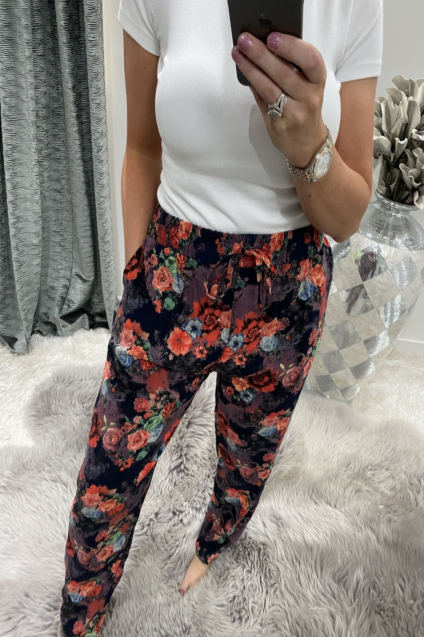 Red Sunset Elasticated Trousers