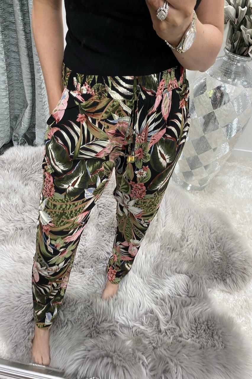 Black Millisa  Elasticated Trousers
