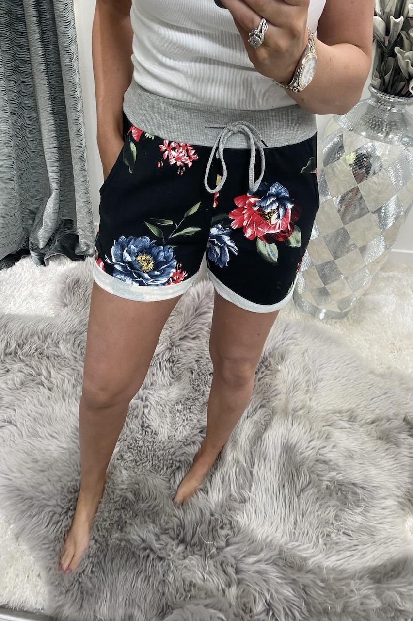 Black Scarlett Drawstring Shorts