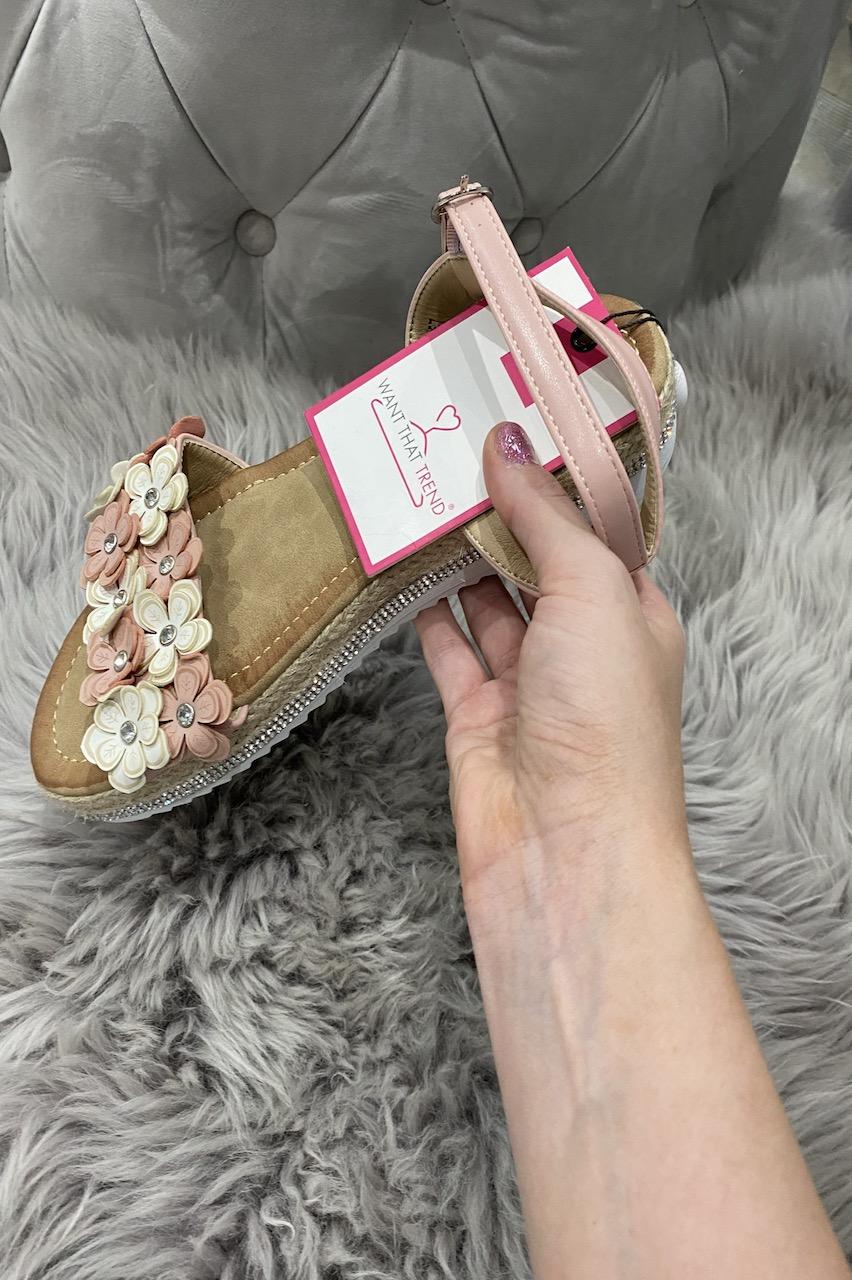 Seville Pink Flower Sandals.