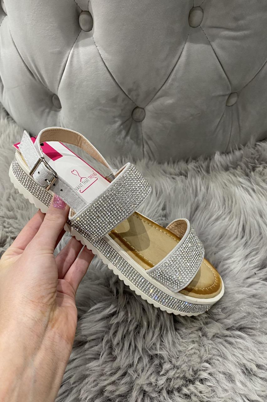 Ruse Silver Diamond Sandals