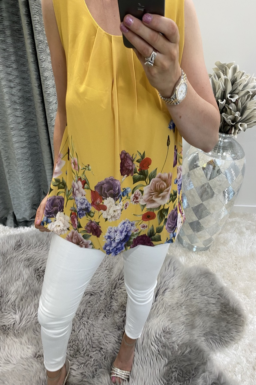 Yellow Coast Floral Blouse