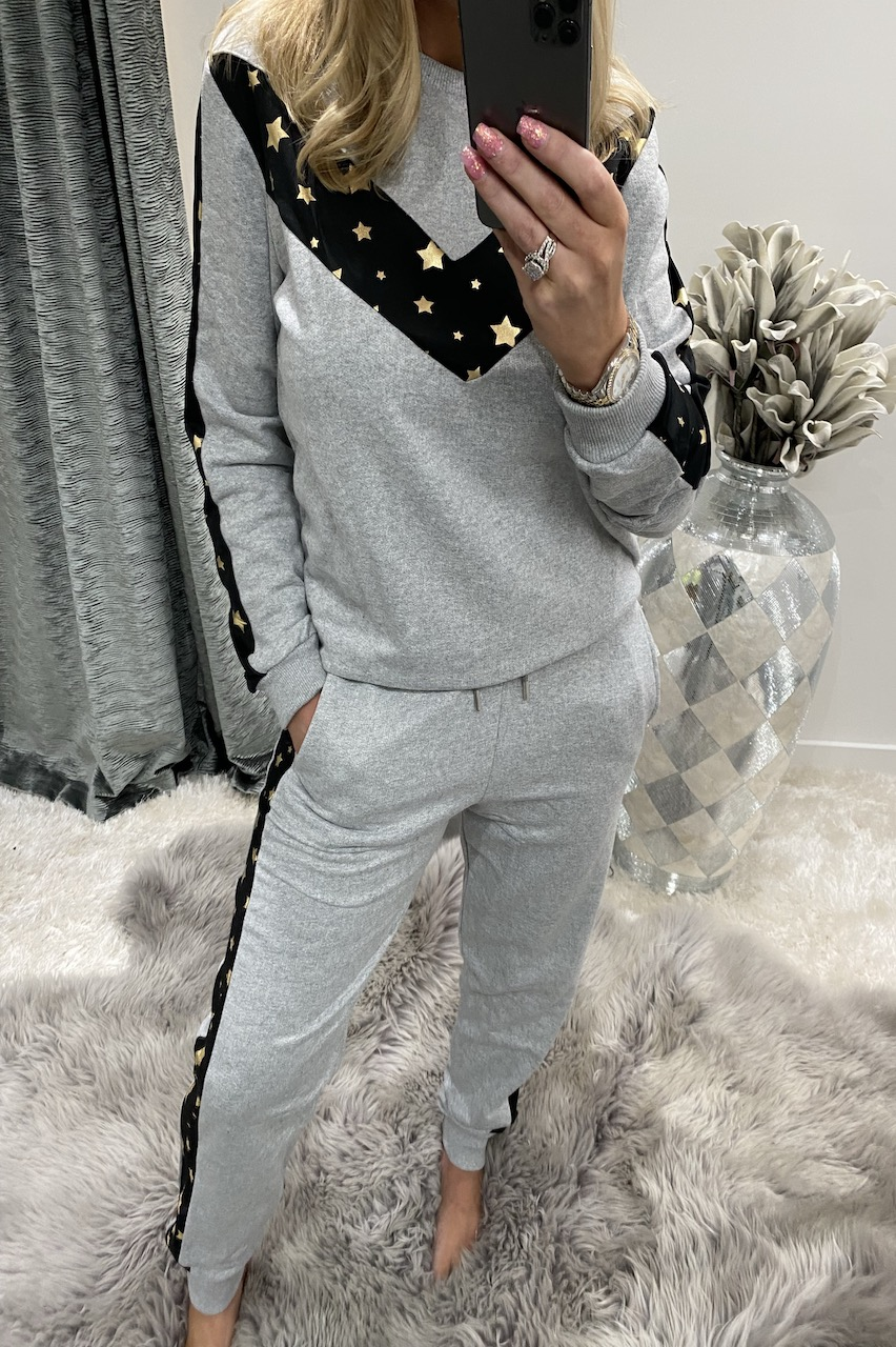 Luxury Grey Star Loungesuit
