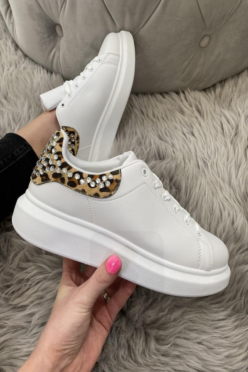 Lament Leopard Diamond Trainers