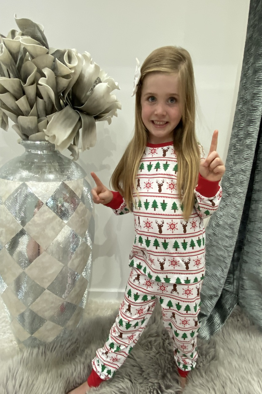 Children's Matching Christmas Pattern PJ's