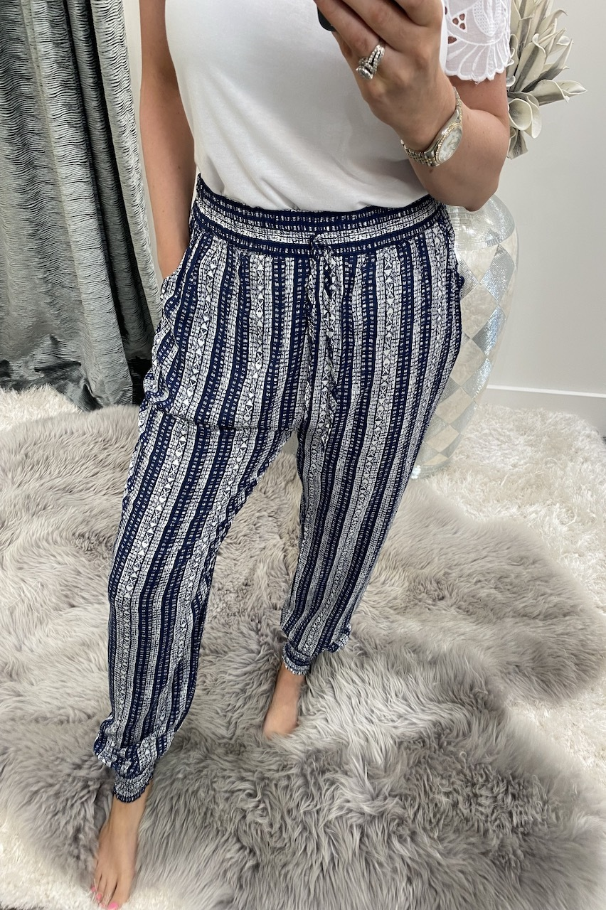 Navy Aztec tribe Trousers