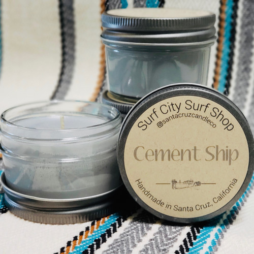 Cement Ship candle