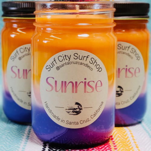 Sunrise candle