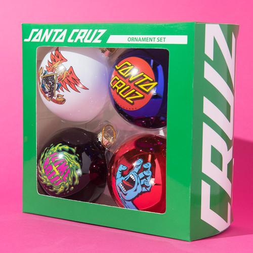 Santa Cruz Skateboards ornament set