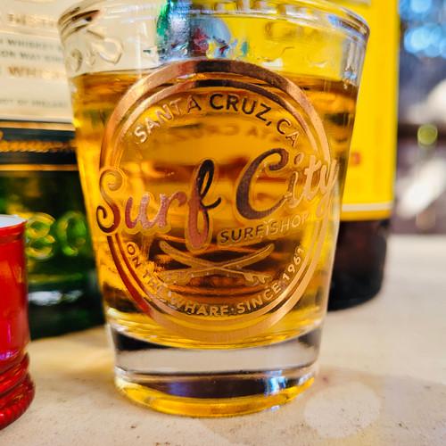 Rose Gold Surf Club shotglass
