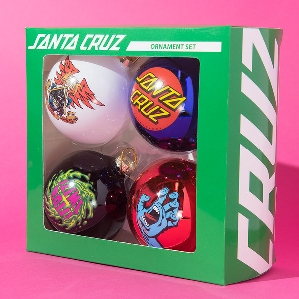 Santa Cruz Skateboards ornament set