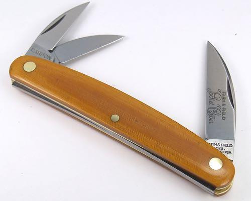 Great Eastern Cutlery F & F Pocket Carver Natural Linen Micarta 620320