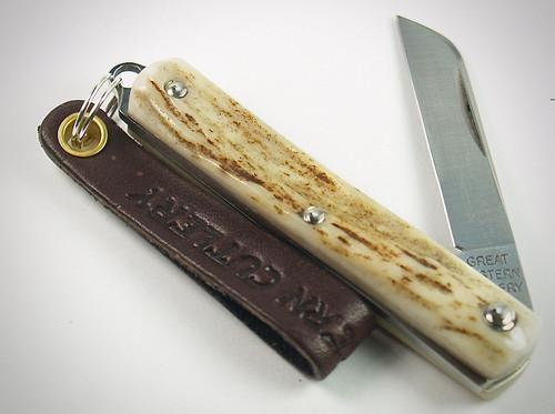 Great Eastern Cutlery Sheepfoot Keychain Knife Sambar Stag 053121 PPP  5