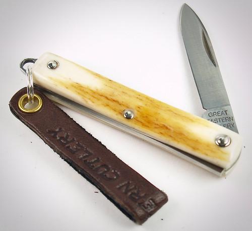 Great Eastern Cutlery Spear Keychain Knife Sambar Stag 052121 PPP 9