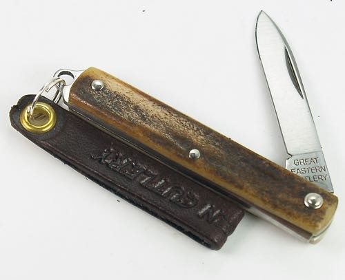 Great Eastern Northfield Spear Keychain Knife Sambar Stag 052121 PPP 5